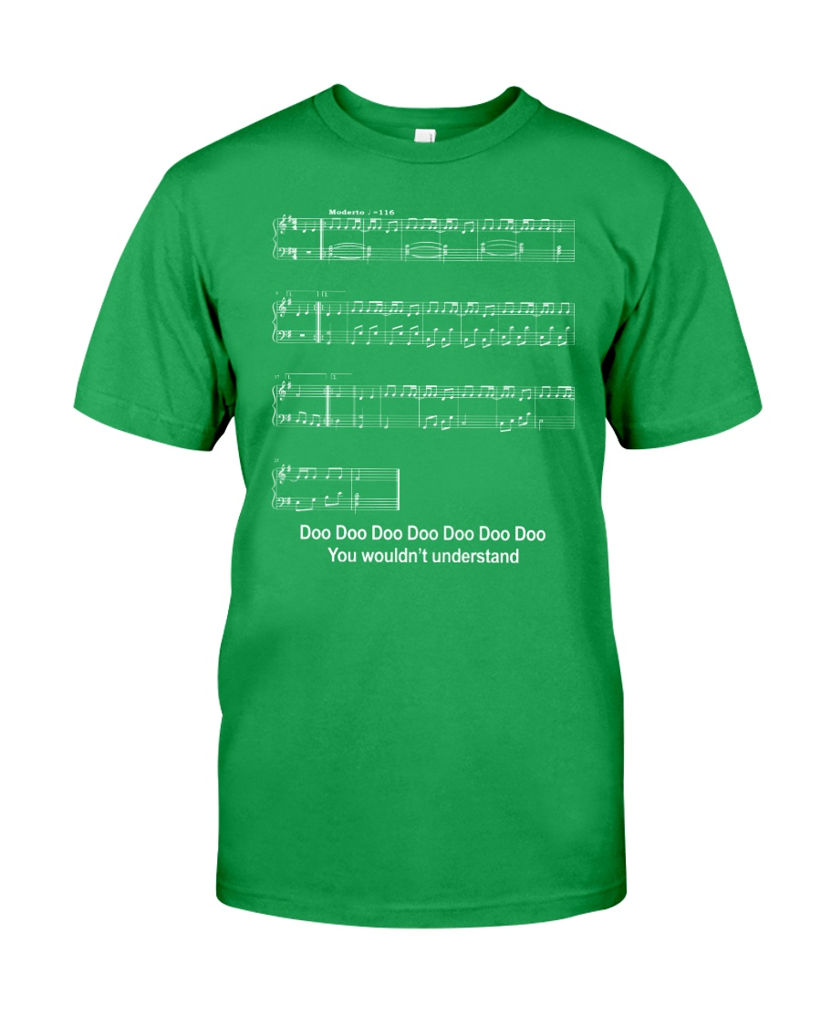 FUNNY MUSIC THEORY TSHIRT - BABY SHARK SHEET Classic T-Shirt