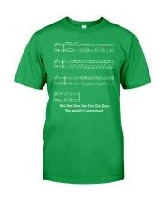 FUNNY MUSIC THEORY TSHIRT - BABY SHARK SHEET Classic T-Shirt front