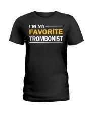 FUNNY DESIGN FOR TROMBONE PLAYERS Ladies T-Shirt thumbnail