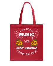 I'M NAPPING FUNNY MUSIC TSHIRT FOR MUSICIAN Tote Bag thumbnail