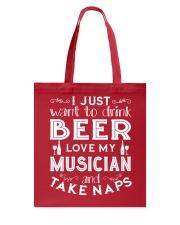 I'M NAPPING FUNNY MUSIC TSHIRT FOR MUSICIAN Tote Bag thumbnail