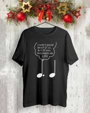 FUNNY MUSIC NOTE MUSICIAN TSHIRT Classic T-Shirt lifestyle-holiday-crewneck-front-2