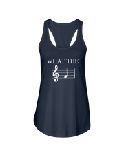 What The Fuck Funny Treble Clef Music Musician Ladies Flowy Tank thumbnail