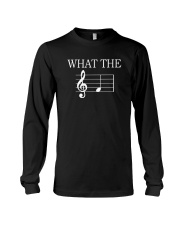 What The Fuck Funny Treble Clef Music Musician Long Sleeve Tee thumbnail