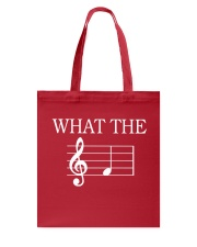What The Fuck Funny Treble Clef Music Musician Tote Bag thumbnail