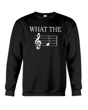 What The Fuck Funny Treble Clef Music Musician Crewneck Sweatshirt thumbnail
