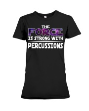 AWESOME DESIGN FOR PERCUSSION PLAYERS Premium Fit Ladies Tee thumbnail