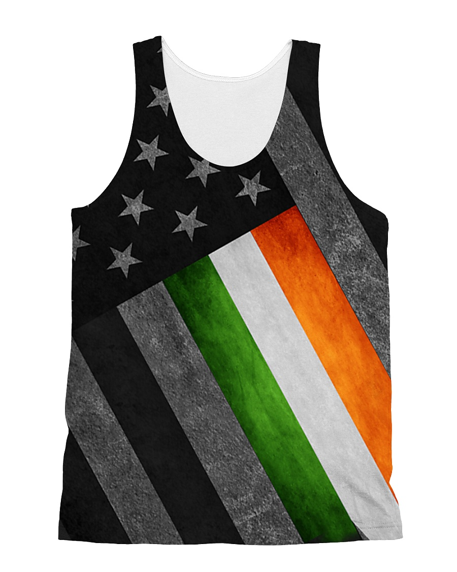 PVT - Irish flag US Full Print All-over Unisex Tank