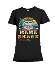 Mama Shark Shirt Premium Fit Ladies Tee thumbnail
