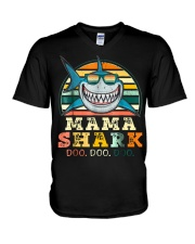 Mama Shark Shirt V-Neck T-Shirt thumbnail