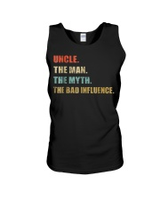Uncle the man the myth the bad influence T Shirt Unisex Tank thumbnail