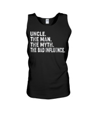Uncle the man the myth the bad influence T-Shirt Unisex Tank thumbnail