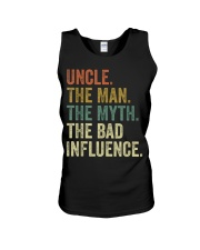 Uncle the man the myth the bad influence Tee Shirt Unisex Tank thumbnail