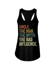 Uncle the man the myth the bad influence Tee Shirt Ladies Flowy Tank thumbnail