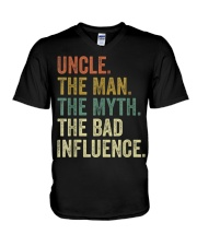 Uncle the man the myth the bad influence Tee Shirt V-Neck T-Shirt thumbnail