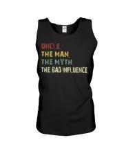 Uncle the man the myth the bad influence TShirts Unisex Tank thumbnail