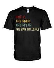 Uncle the man the myth the bad influence TShirts V-Neck T-Shirt thumbnail