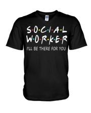 Social Worker T-Shirts V-Neck T-Shirt thumbnail