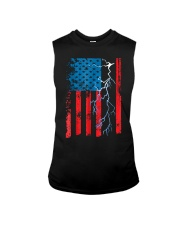 American flag with Electrician TShirts Sleeveless Tee thumbnail