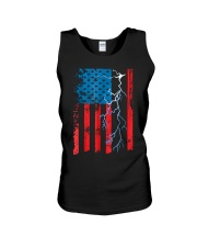American flag with Electrician TShirts Unisex Tank thumbnail