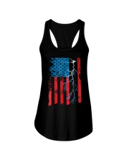 American flag with Electrician TShirts Ladies Flowy Tank thumbnail