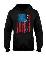 American flag with Electrician TShirts Hooded Sweatshirt thumbnail