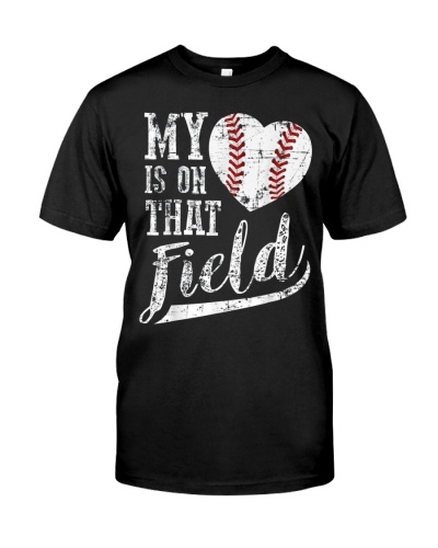 My Heart is on That Field Tee Shirt