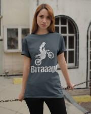 Brraaap Funny Dirt Bike Motocross Classic T-Shirt apparel-classic-tshirt-lifestyle-19