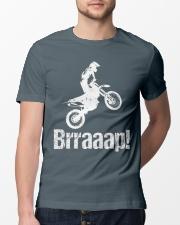 Brraaap Funny Dirt Bike Motocross Classic T-Shirt lifestyle-mens-crewneck-front-13