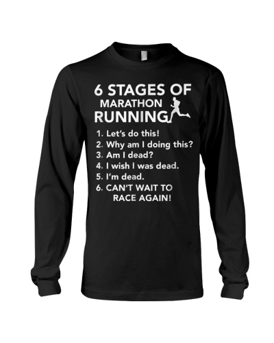 6 Stages of Marathon Running T