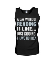 A Day Without Reading Is Like J Unisex Tank thumbnail