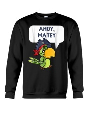 Ahoy Matey Cute Pirate Parro Crewneck Sweatshirt thumbnail
