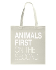Animals First on the Second Tote Bag thumbnail