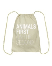 Animals First on the Second Drawstring Bag thumbnail