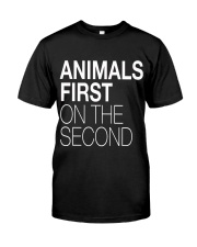 Animals First on the Second Premium Fit Mens Tee front