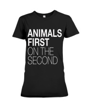 Animals First on the Second Premium Fit Ladies Tee thumbnail
