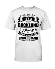 BACKLUND perfect Birthday gift Tee Classic T-Shirt front