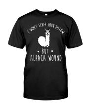 Alpaca Wound Tshirt Wound Care Nurse Trauma Er fun Classic T-Shirt front