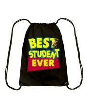 Best Student ever Back to School Drawstring Bag thumbnail