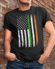 Irish American Flag Ireland Flag ST PATRICKS DAY Classic T-Shirt apparel-classic-tshirt-lifestyle-26