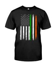 Irish American Flag Ireland Flag ST PATRICKS DAY Classic T-Shirt front