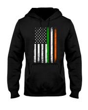 Irish American Flag Ireland Flag ST PATRICKS DAY Hooded Sweatshirt thumbnail