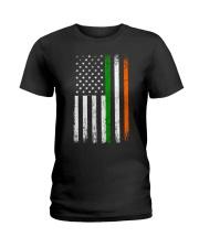 Irish American Flag Ireland Flag ST PATRICKS DAY Ladies T-Shirt thumbnail