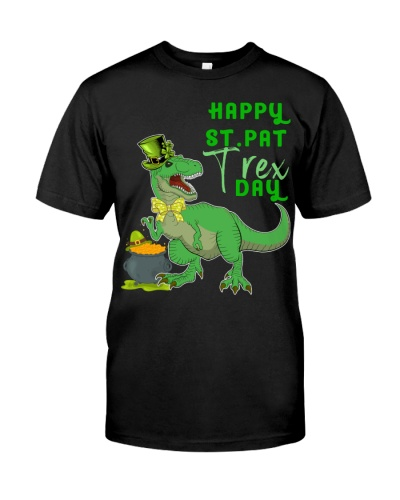 Happy St Pat T-Rex Day Dinosaur St