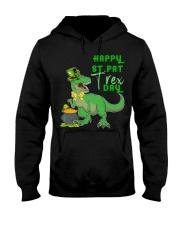 Happy St Pat T-Rex Day Dinosaur St Hooded Sweatshirt thumbnail