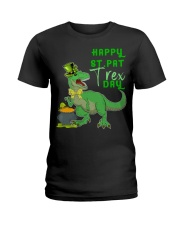 Happy St Pat T-Rex Day Dinosaur St Ladies T-Shirt thumbnail