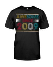 11th Birthday Gifts - Awesome Since 2009 Classic T-Shirt front