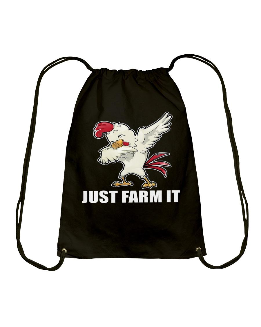 JUST FARM IT TSHIRT Drawstring Bag