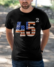 45 Squared Trump 2020 Second Term USA Vintage Classic T-Shirt apparel-classic-tshirt-lifestyle-front-50