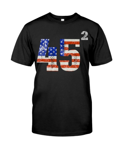 45 Squared Trump 2020 Second Term USA Vintage